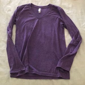 American Apparel cotton long sleeve shirt